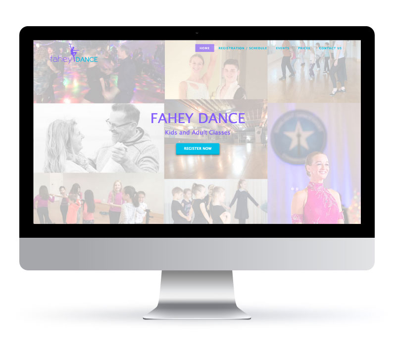 Fahey Dance - Website created by Jessica Design. Graphic and Web services in Hamilton.
