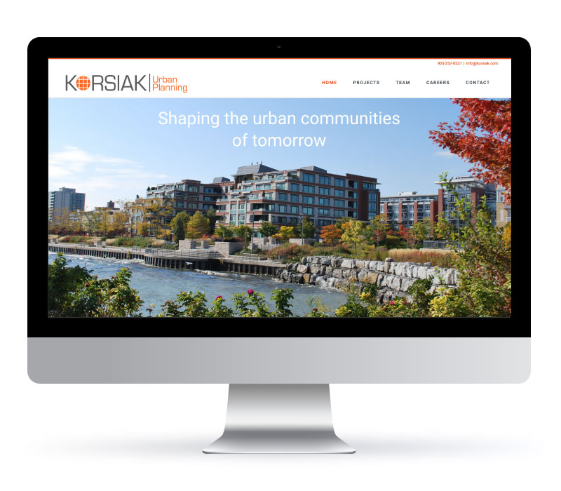 Korsiak Urban Planning - Website Created by Jessica Design and Bare Bones Marketing.