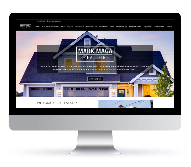 Mark Maga Realtor - Website Created by Jessica Design and Koru Creative Group.