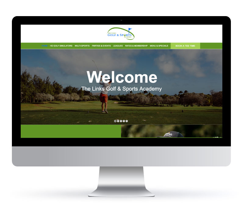 The Links Golf & Sports Academy - Website created by Jessica Design. Graphic and Web services in Hamilton.