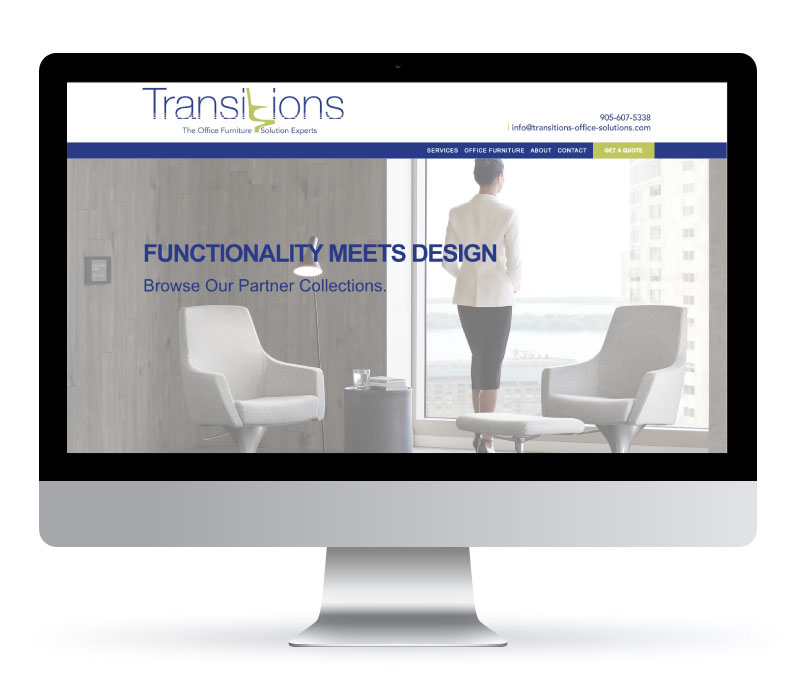 Transitions Office Solutions - Website Created by Jessica Design and Bare Bones Marketing.