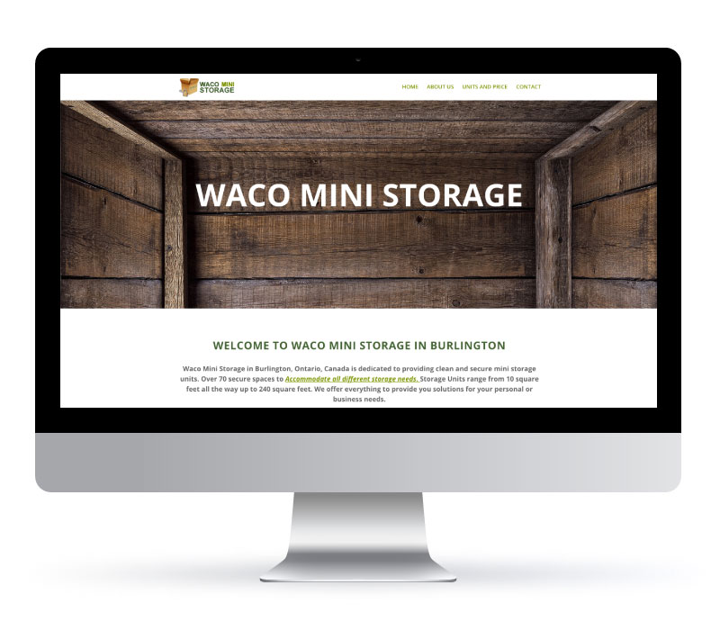 Waco Mini Storage - Website Created by Jessica Design and Koru Creative Group.